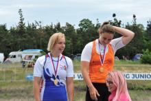 vítězná posádka C2 s Kristýnou Havlovou a Alenou Krausovou